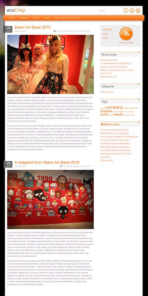 ecoCrisp WordPress Theme
