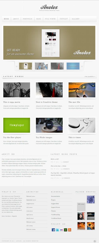 Anolox Premium Portfolio WordPress Theme