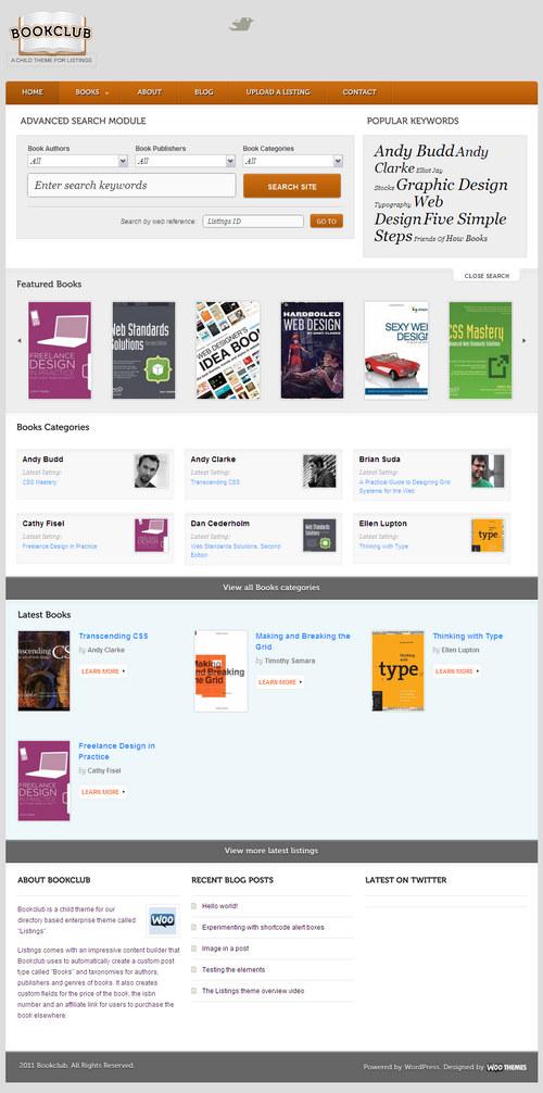 Bookclub Premium WordPress Theme