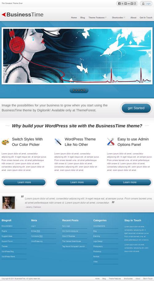 BusinessTime Premium WordPress Theme