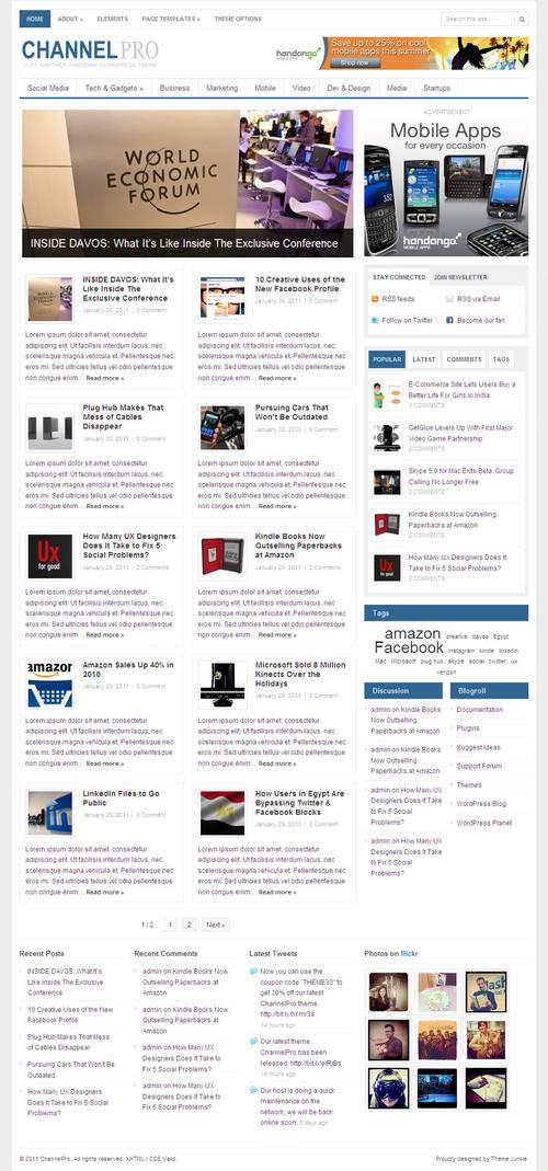 ChannelPro Premium WordPress Theme