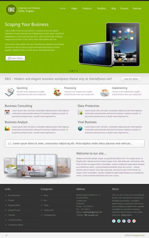 Ebiz Corporate & Business WordPress Theme