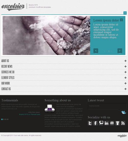 ExcelsiorWP WordPress Portfolio Theme