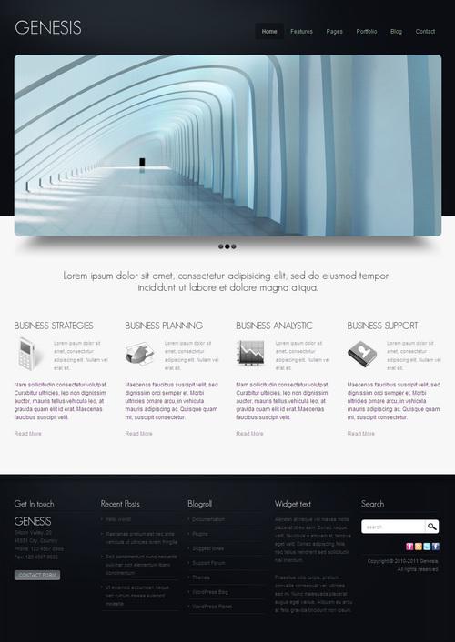 Genesis Business & Portfolio WordPress Theme