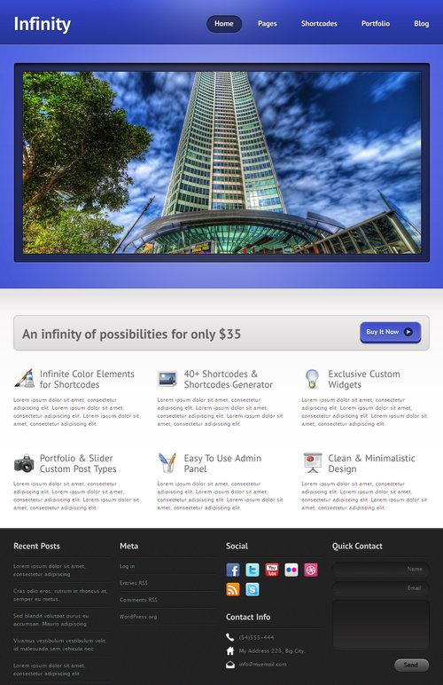 Infinity Business & Portfolio WordPress Theme