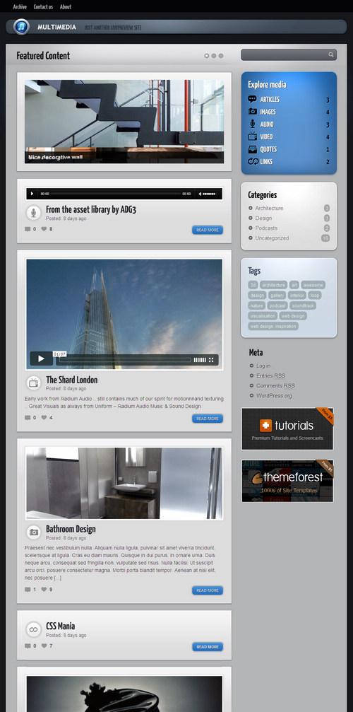 MultimediaWP WordPress Micro Blog Theme