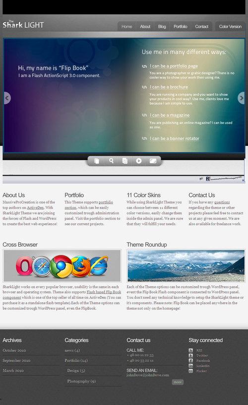 SharkLight Premium WordPress Theme
