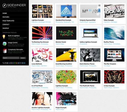 SideWinder Portfolio WordPress Theme