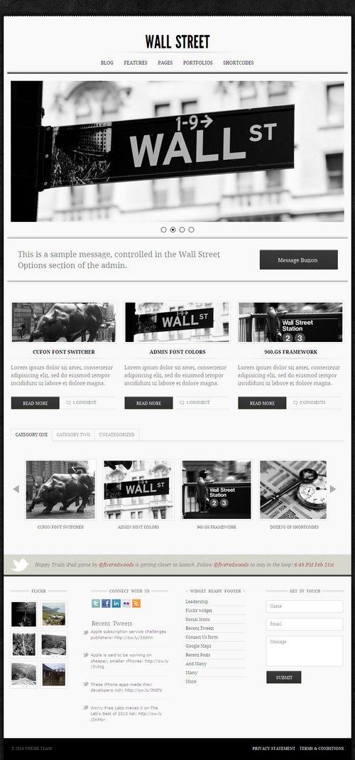 Wall Street Premium WordPress Theme