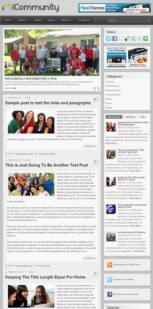 iCommunity Premium WordPress Theme