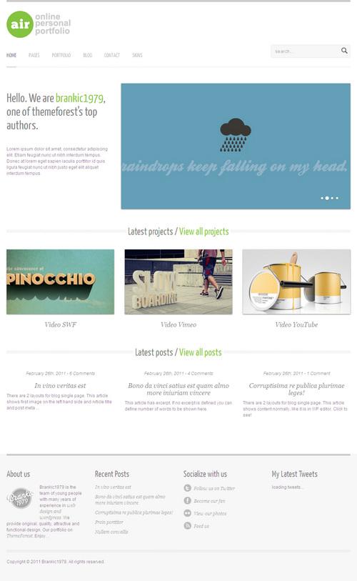AirWP Premium Minimalist WordPress Theme