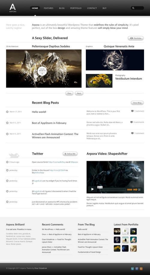 Arpora Premium WordPress Portfolio Theme