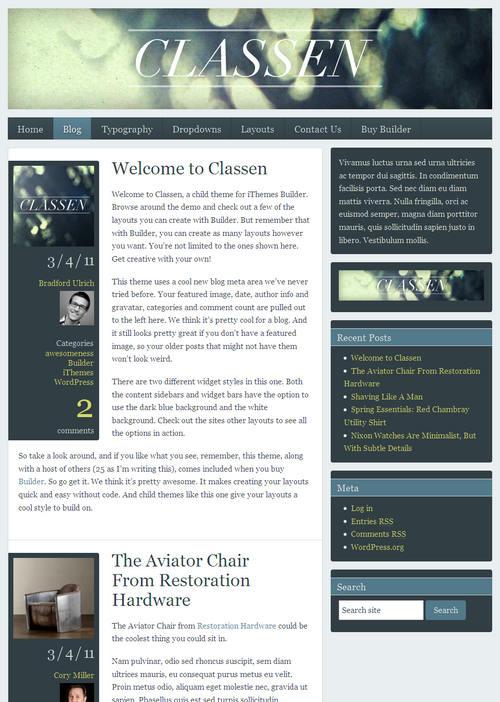 Classen Blog Style
