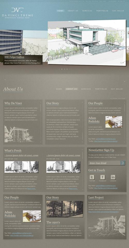 Da Vinci Portfolio WordPress Theme