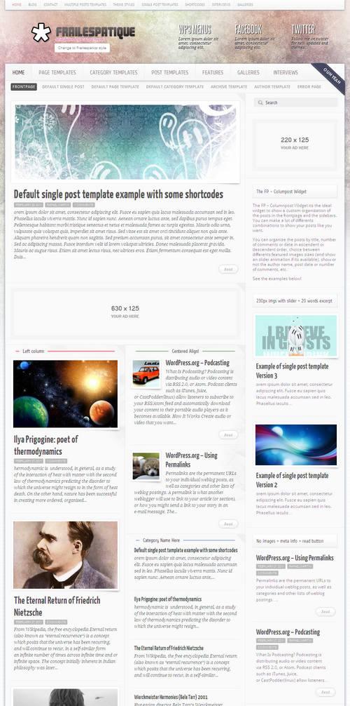Frailespatique Newspaper WordPress Theme