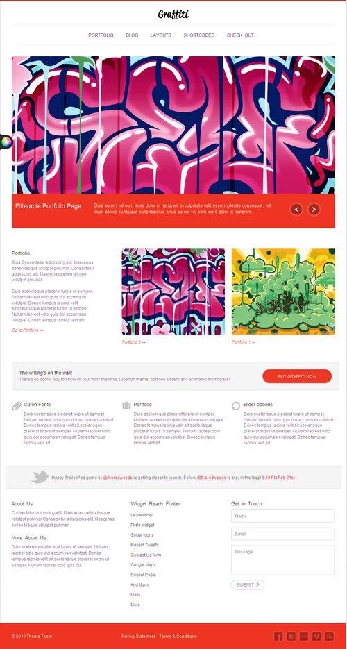 Graffiti Premium WordPress Portfolio Theme