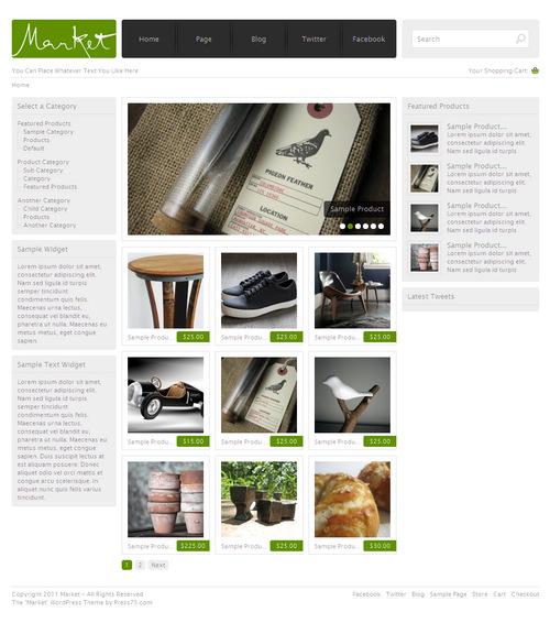 Market Premium Commerce WordPress Theme