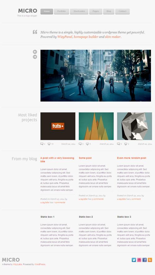 Micro Premium WordPress Theme