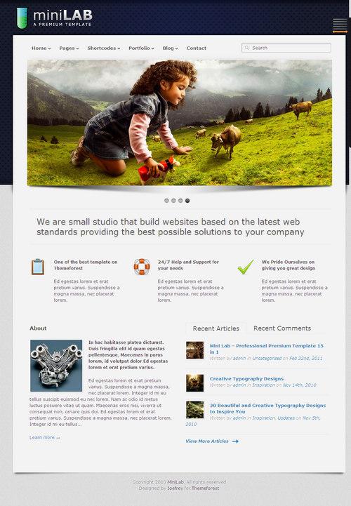 Mini Lab Premium WordPress Theme