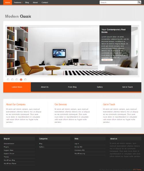 Modern Classic Portfolio WordPress Theme
