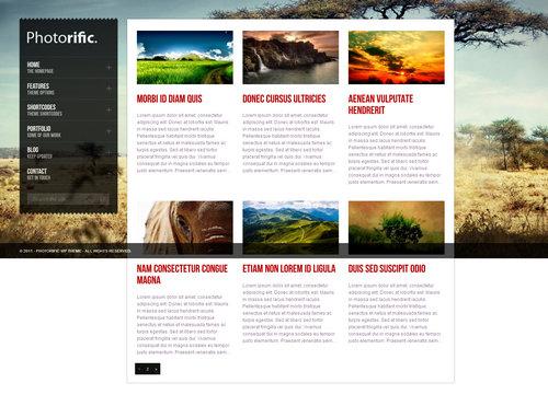 Photorific Portfolio Page