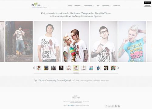 PicTree Theme White Style