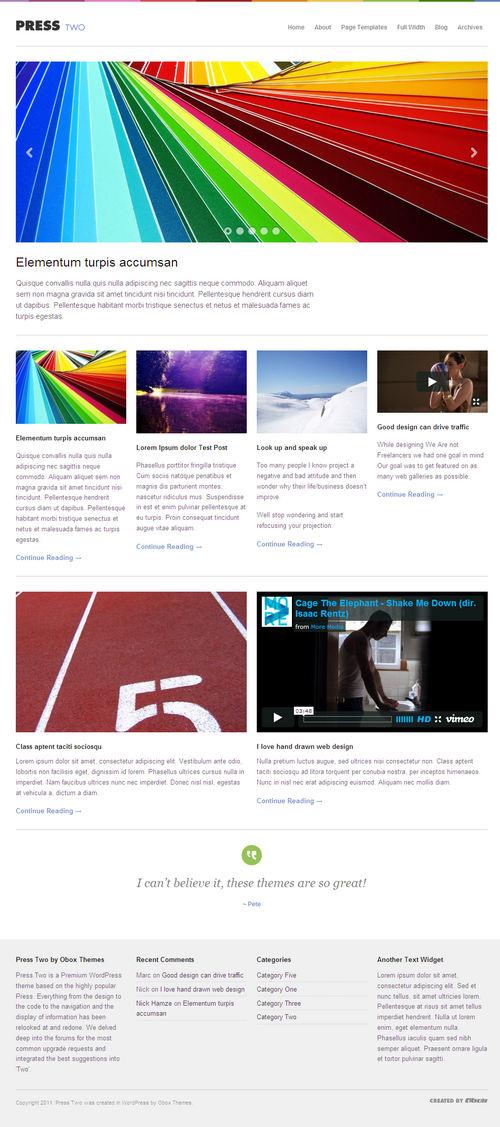 Press Two Magazine WordPress Theme
