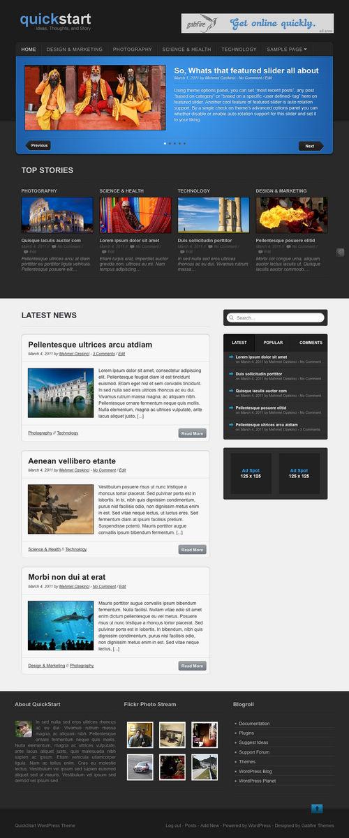 QuickStart Premium WordPress Theme