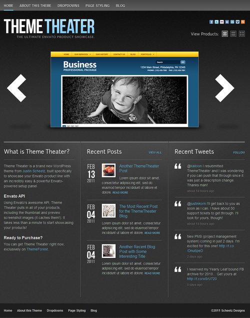 Theme Theater Showcase WordPress Theme