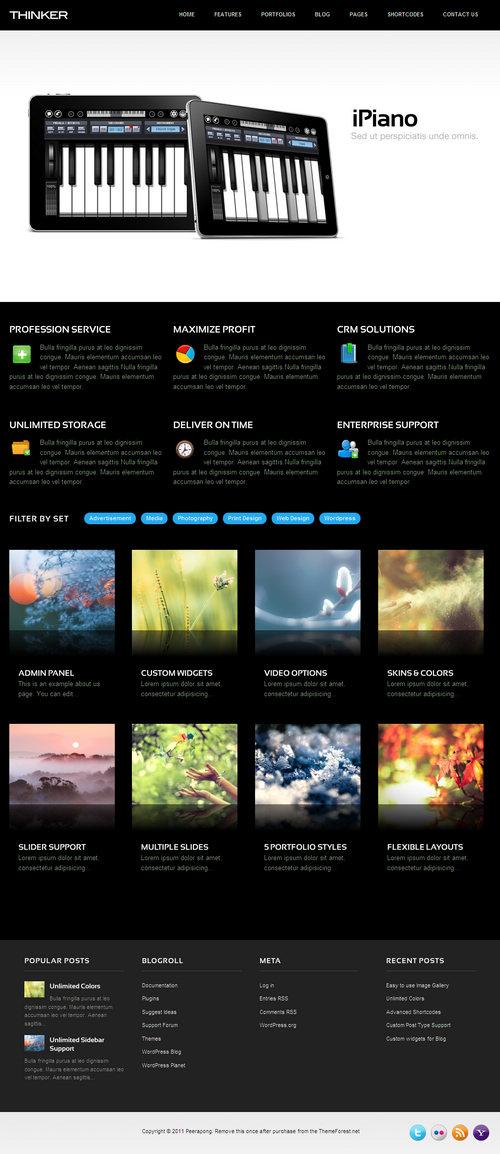 Thinker Business & Portfolio WordPress Theme