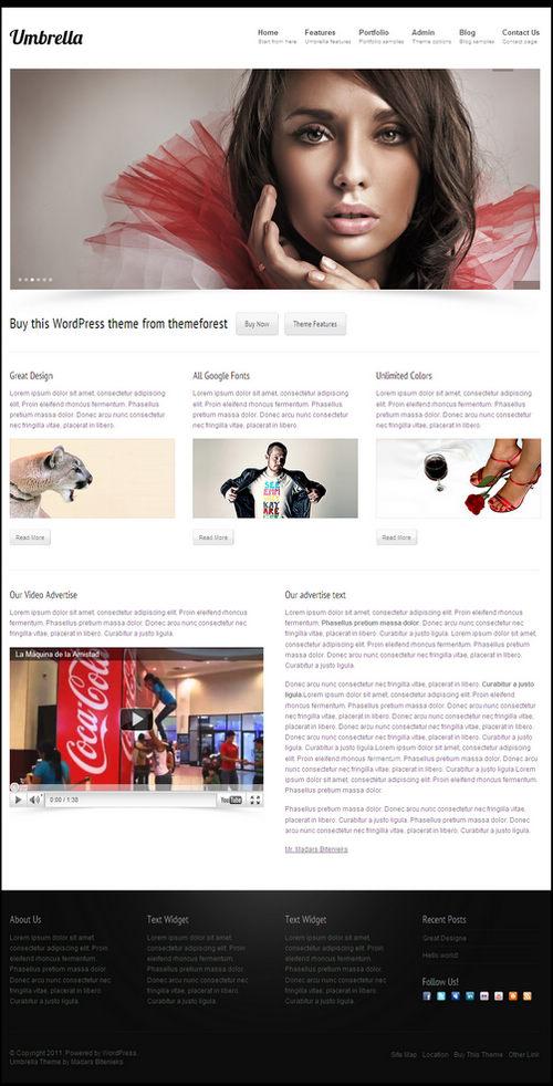 Umbrella Business & Portfolio WordPress Theme