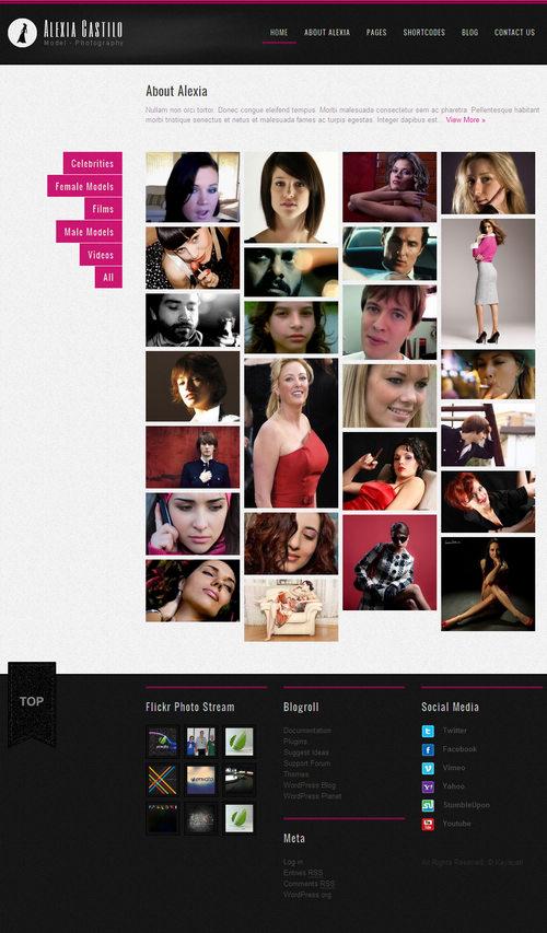 Alexia Castillo Creative Gallery WordPress Theme