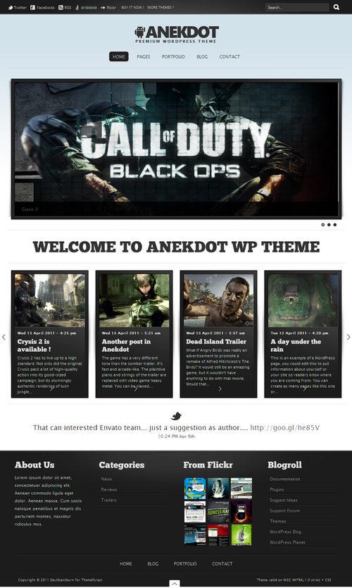 Anekdot Premium WordPress Portfolio Theme