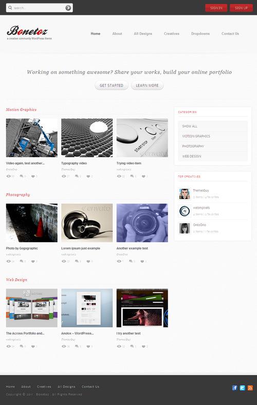 Bonetoz Premium Community WordPress Theme