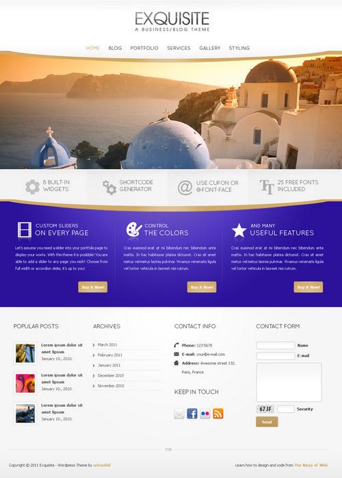 Exquisite Business & Portfolio WordPress Theme