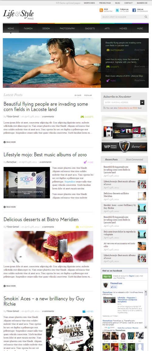 Lifestyle Online Magazine WordPress Theme
