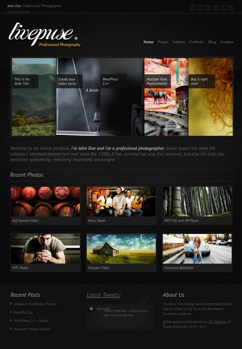 Livepuse Creative Portfolio WordPres Theme