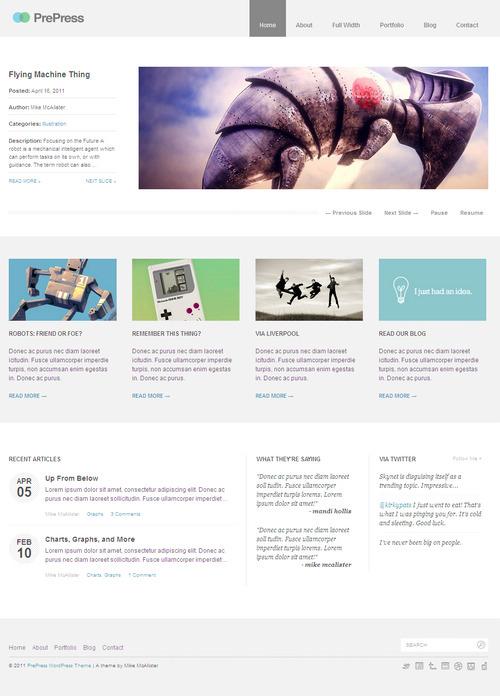 PrePress Premium Minimalist WordPress Theme