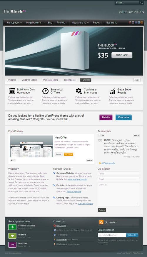 The Block Business WordPress Theme