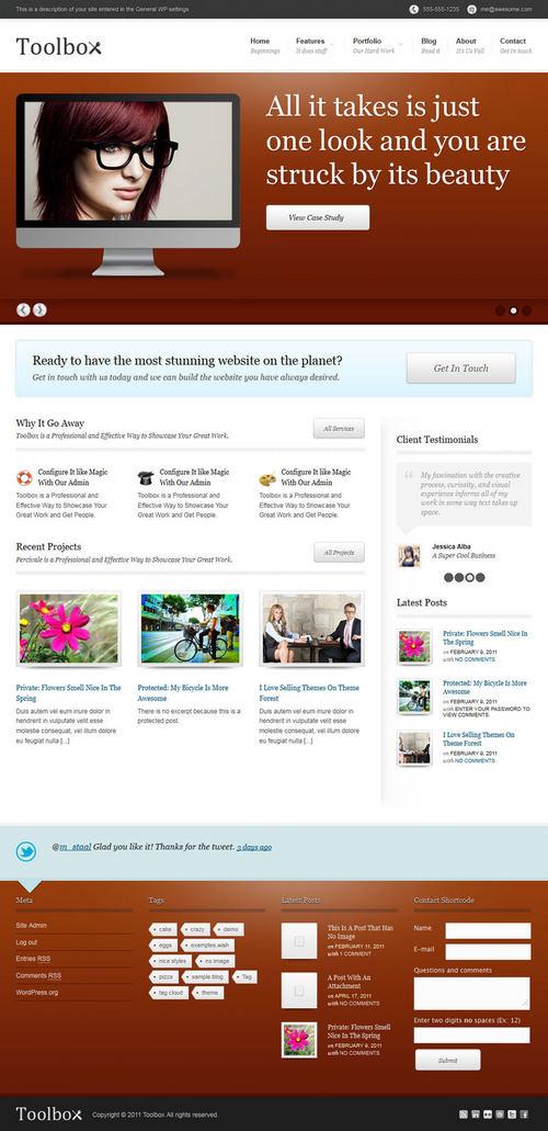 Toolbox Corporate & Portfolio WordPress Theme