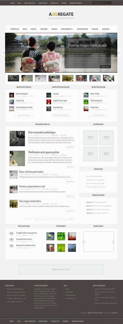 Aggregate Premium WordPress Theme Released