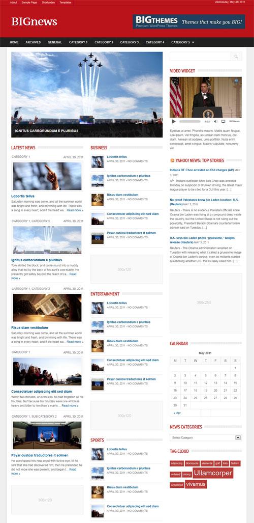 BIGnews Premium News WordPress Theme