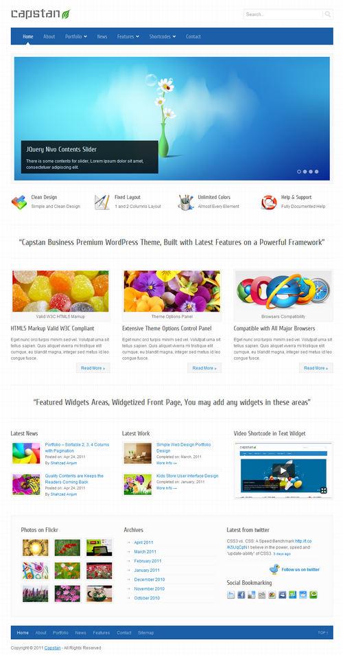 Capstan Premium Business WordPress Theme