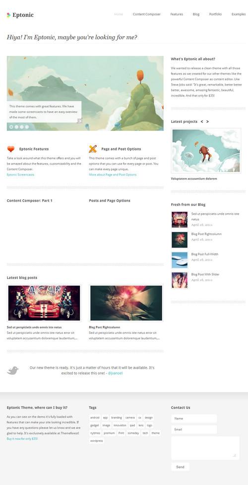 Eptonic Clean & Minimalist WordPress Theme