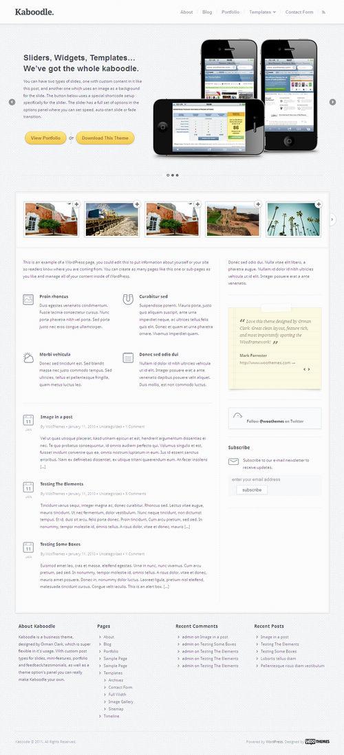 Kaboodle Clean Business WordPress Theme