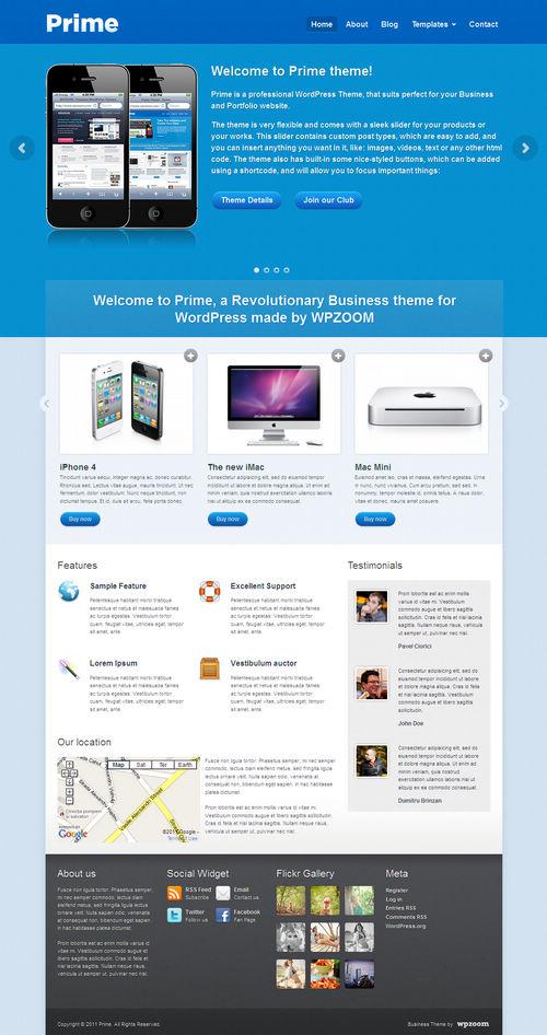 Prime Business & CMS WordPress Theme