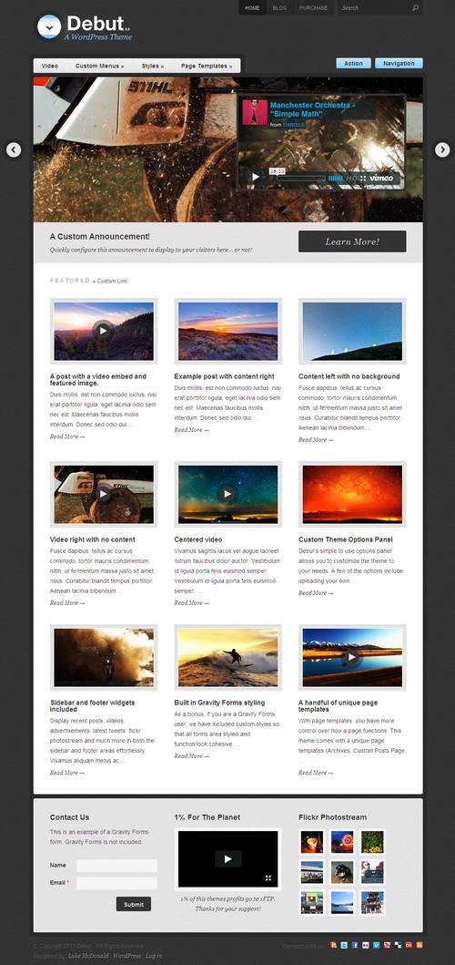Debut V2.0 WordPress Theme