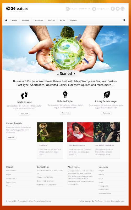 G6 Feature Business & Portfolio WordPress Theme
