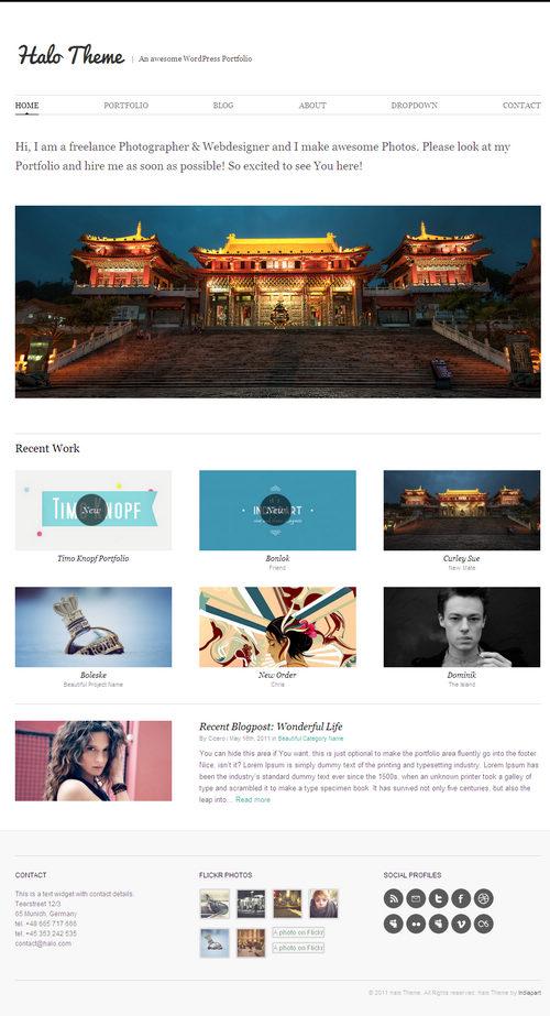Halo Stunning WordPress Portfolio Theme