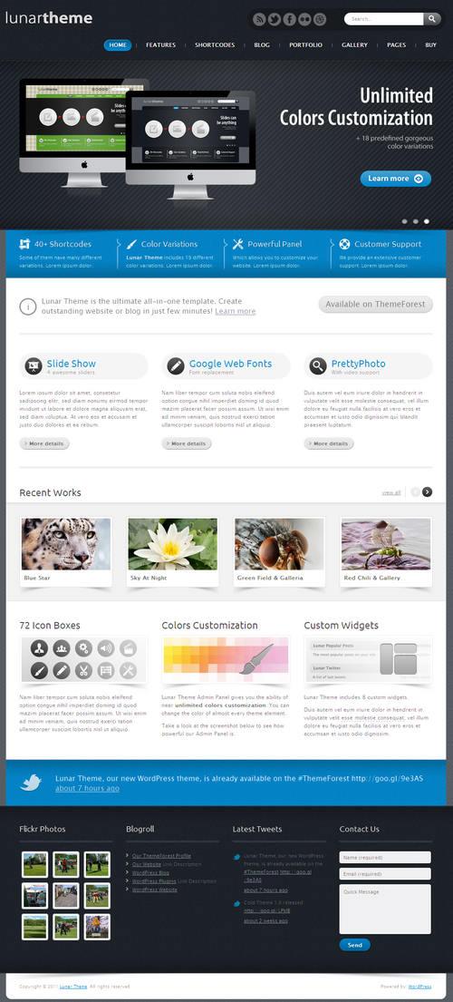 Lunar WordPress Theme